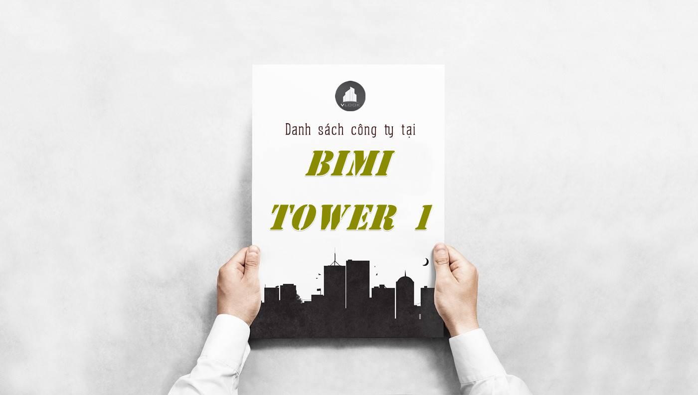 Danh sách công ty thuê văn phòng tại tòa nhà BIMI Tower 1, Quận Tân Bình