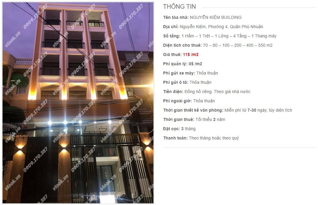 Danh sách công ty thuê văn phòng tại Nguyễn Kiệm Building, Quận Phú Nhuận