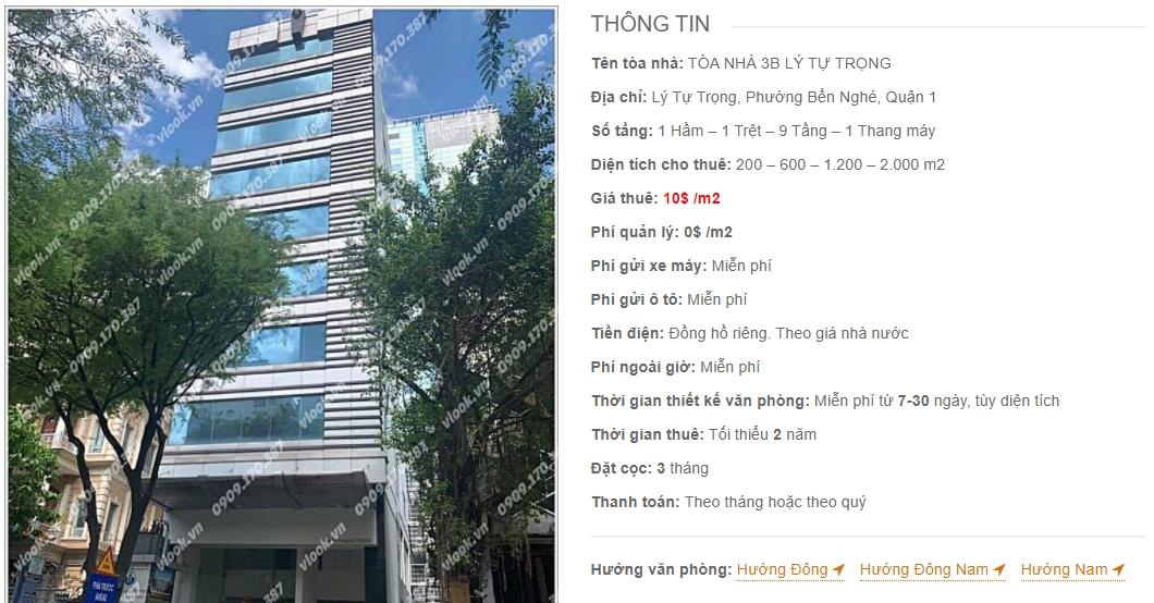 Danh sách công ty thuê văn phòng tại Tòa nhà 3B Lý Tự Trọng, Quận 1