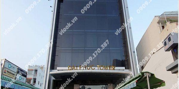 Mặt trước toàn cảnh oà cao ốc văn phòng cho thuê Đại Phúc Tower, đường Ung Văn Khiêm, quận Bình Thạnh, TP.HCM - vlook.vn