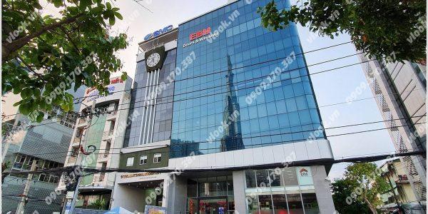 Mặt trước toàn cảnh oà cao ốc văn phòng cho thuê EBM Building, đường Ung Văn Khiêm, quận Bình Thạnh, TP.HCM - vlook.vn