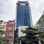 Mặt trước toàn cảnh oà cao ốc văn phòng cho thuê Melody Tower, đường Ung Văn Khiêm, quận Bình Thạnh, TP.HCM - vlook.vn