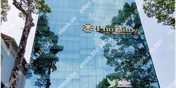 Mặt trước cao ốc cho thuê văn phòng Hà Phan Building, Cống Quỳnh, Quận 1, TPHCM - vlook.vn