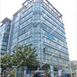 Mặt trước cao ốc cho thuê văn phòng IMV Building, Hoàng Văn Thái, Quận 7, TPHCM - vlook.vn