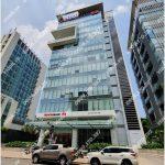 Mặt trước cao ốc cho thuê văn phòng Nam Long Capital Tower, Nguyễn Khắc Viện, Quận 7, TPHCM - vlook.vn