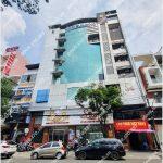 Mặt trước toàn cảnh oà cao ốc văn phòng cho thuê HHM Building, đường Xuân Hồng, quận Tân Bình, TP.HCM - vlook.vn
