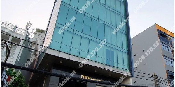 Mặt trước toàn cảnh oà cao ốc văn phòng cho thuê NGE Building, đường Ung Văn Khiêm, quận Bình Thạnh, TP.HCM - vlook.vn