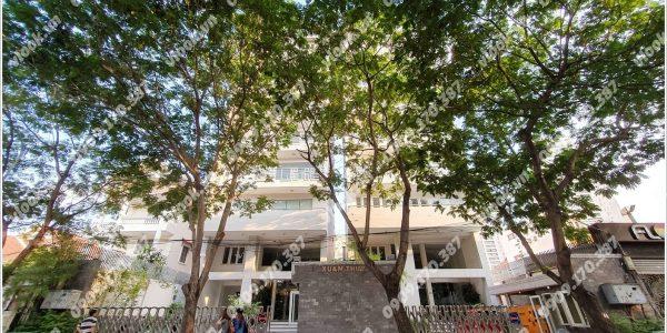 Mặt trước toàn cảnh oà cao ốc văn phòng cho thuê Xuân Thủy Building, đường Xuân Thủy, quận 2, TP.HCM - vlook.vn