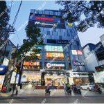 Mặt trước cao ốc cho thuê văn phòng Mega GS, Cao Thắng, Quận 3, TPHCM - vlook.vn