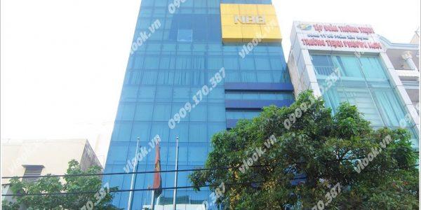 Nhìn toàn cảnh cao ốc văn phòng cho thuê NBB Building Nguyễn Văn Đậu Phường 5 Quận Phú Nhuận - vlook.vn