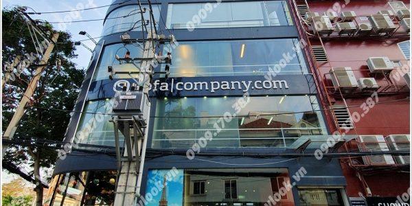Mặt trước toàn cảnh oà cao ốc văn phòng cho thuê Nguyễn Văn Hưởng Building, đường Nguyễn Văn Hưởng, quận 2, TP.HCM - vlook.vn