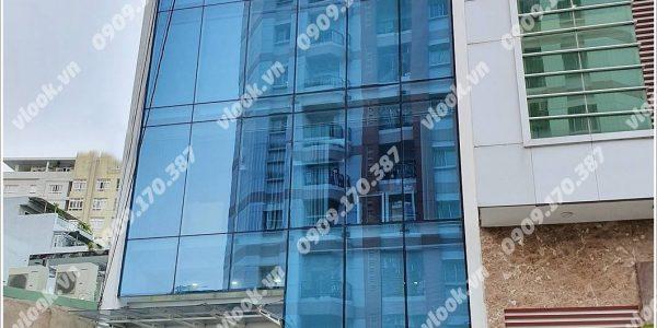 Mặt trước toàn cảnh oà cao ốc văn phòng cho thuê UVK Building, đường Ung Văn Khiêm, quận Bình Thạnh, TP.HCM - vlook.vn