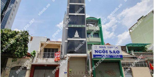 Mặt trước cao ốc cho thuê văn phòng Adam Real Tower, Võ Thị Sáu, Quận 1, TPHCM - vlook.vn