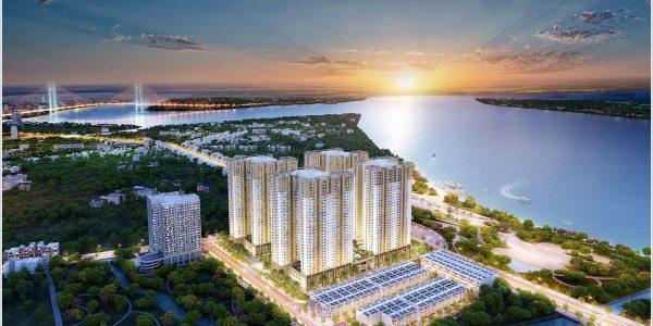 Mặt trước cao ốc cho thuê văn phòng Chung cư Idico Tân Phú, Lũy Bán Bích, Quận Tân Phú, TPHCM - vlook.vn