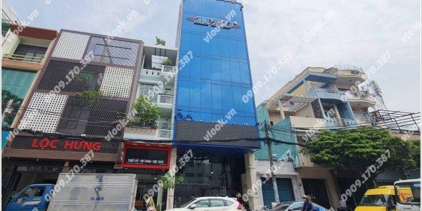 Mặt trước cao ốc cho thuê văn phòng MTD Building, Xuân Hồng, Quận Tân Bình, TPHCM - vlook.vn