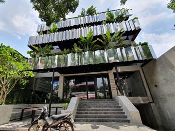 Mặt trước cao ốc cho thuê văn phòng Publik Office, Nguyễn Thị Diệu, Quận 3, TPHCM - vlook.vn
