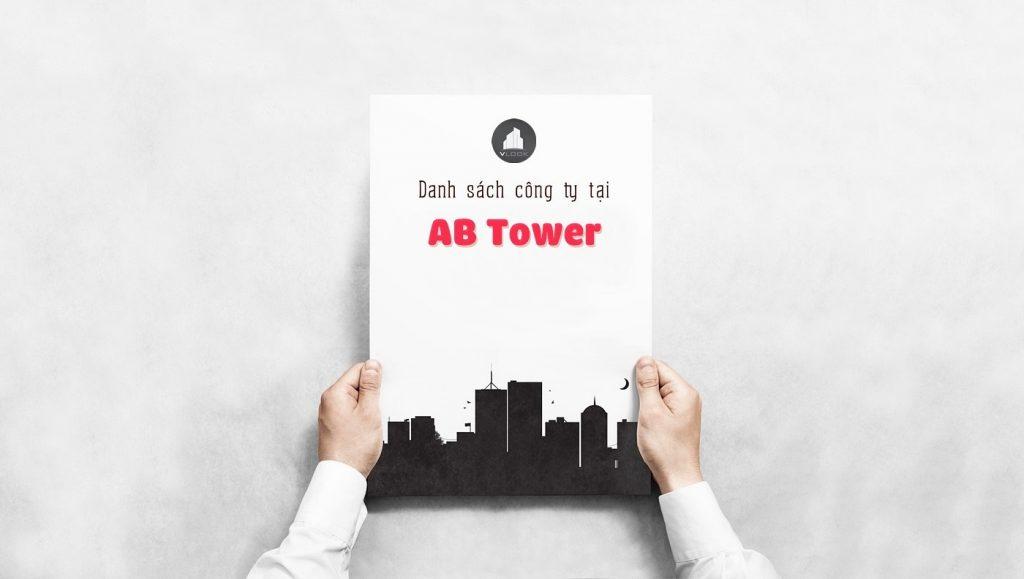 Danh sách các công ty đang thuê văn phòng tại AB Tower Quận 1