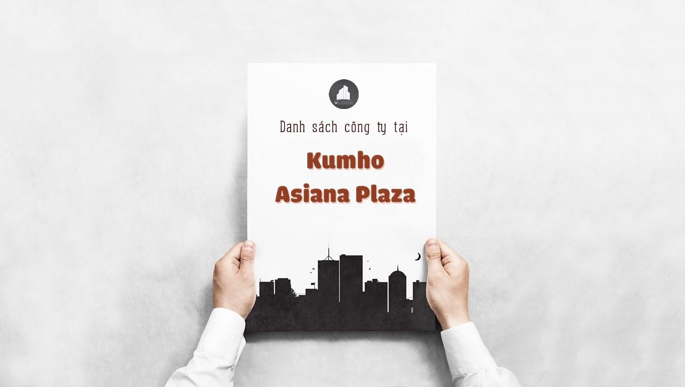 Danh sách các công ty đang thuê văn phòng tại Kumho Asiana Plaza Quận 1