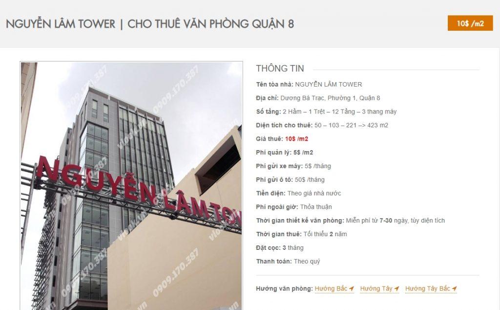 Danh sách các công ty đang thuê văn phòng tại Nguyễn Lâm Tower Quận 8