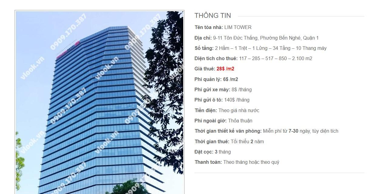 Danh sách các công ty tại toà nhà Lim Tower, Tôn Đức Thắng, Quận 1, TP.HCM - vlook.vn