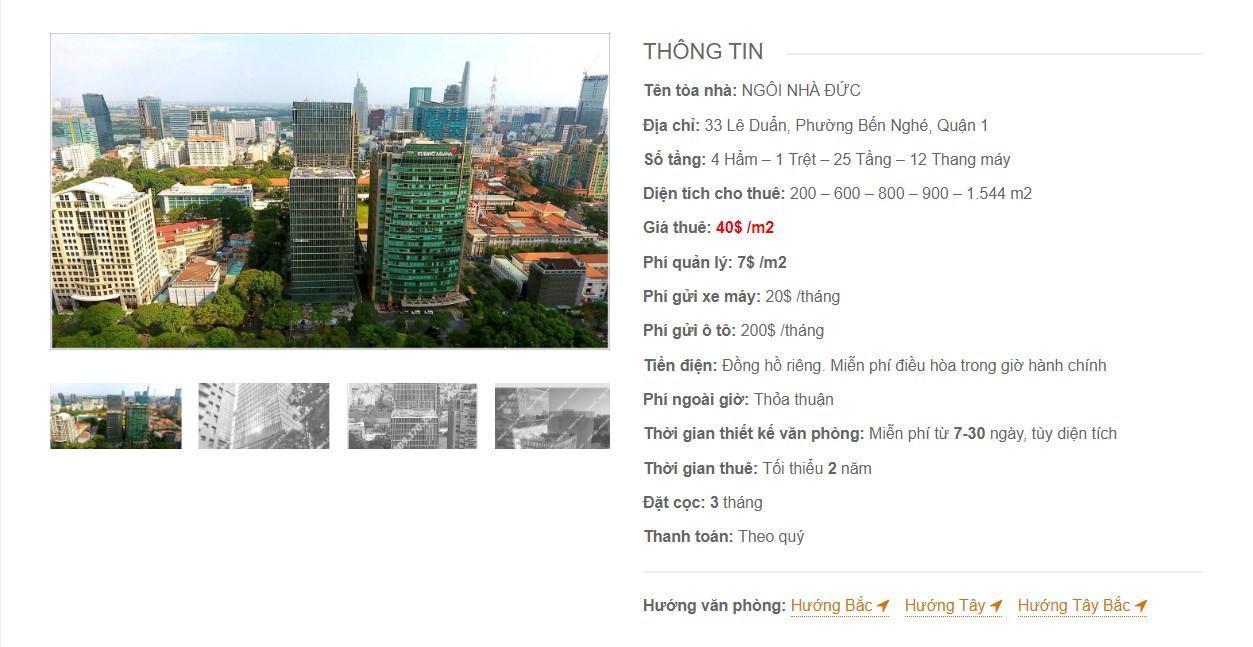 Danh sách các công ty tại toà nhà Ngôi nhà Đức, Lê Duẩn, Quận 1, TP.HCM - vlook.vn