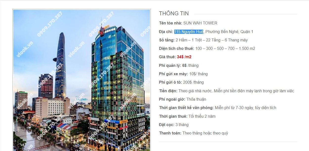 Danh sách các công ty tại toà nhà Sun Wah Tower, Nguyễn Huệ, Quận 1 TP.HCM - vlook.vn