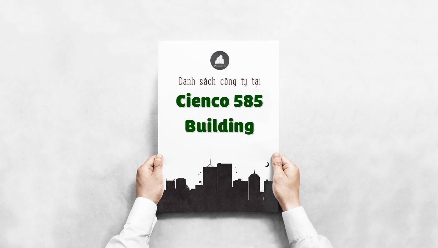 Danh sách các công ty đang thuê văn phòng tại Cienco 585 Building, Đường D2, Quận Bình Thạnh vlook.vn