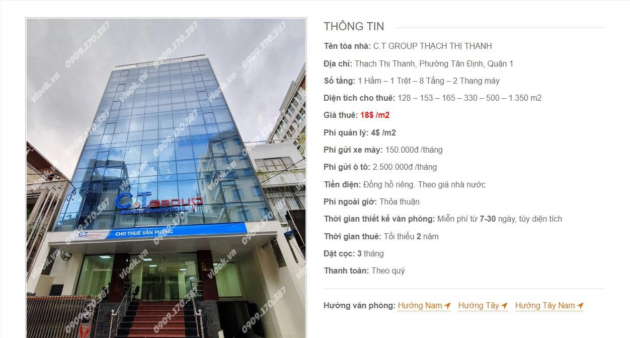 Danh sách các công ty đang thuê văn phòng tại C.T Group Thạch Thị Thanh Quận 1 vlook.vn