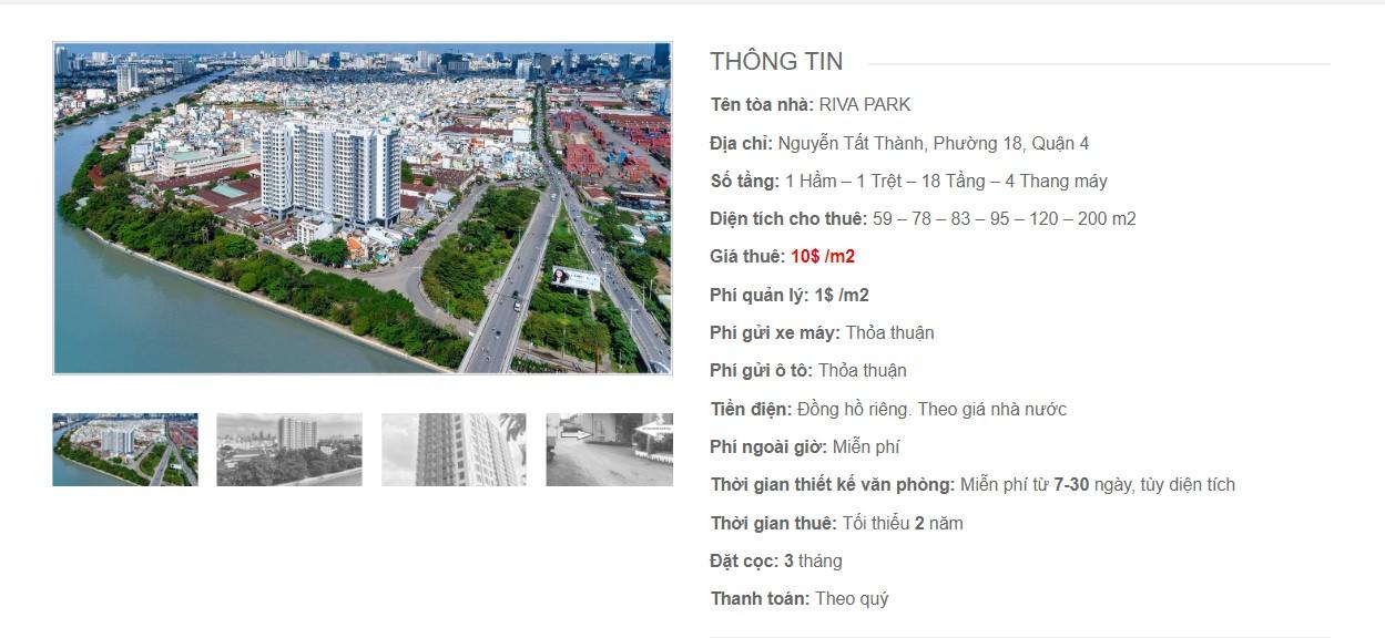 Danh sách các công ty đang thuê văn phòng tại Riva Park, Nguyễn Tất Thành Quận 4 vlook.vn