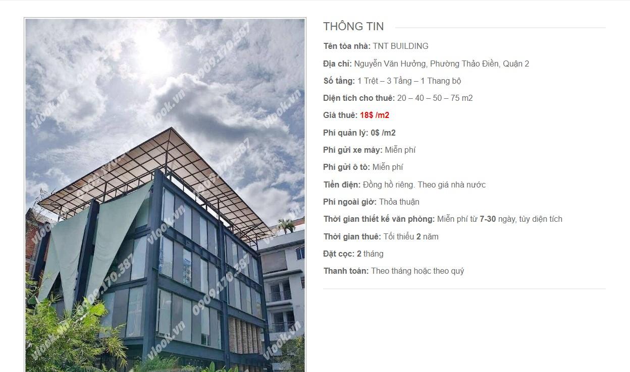 Danh sách các công ty đang thuê văn phòng tại TNT Building. Đường Nguyễn Văn Hưởng Quận 2 vlook.vn