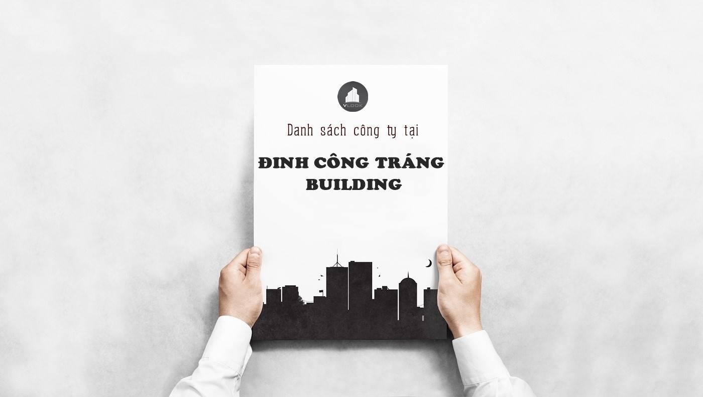Danh sách công ty tại tòa Đinh Công Tráng Building