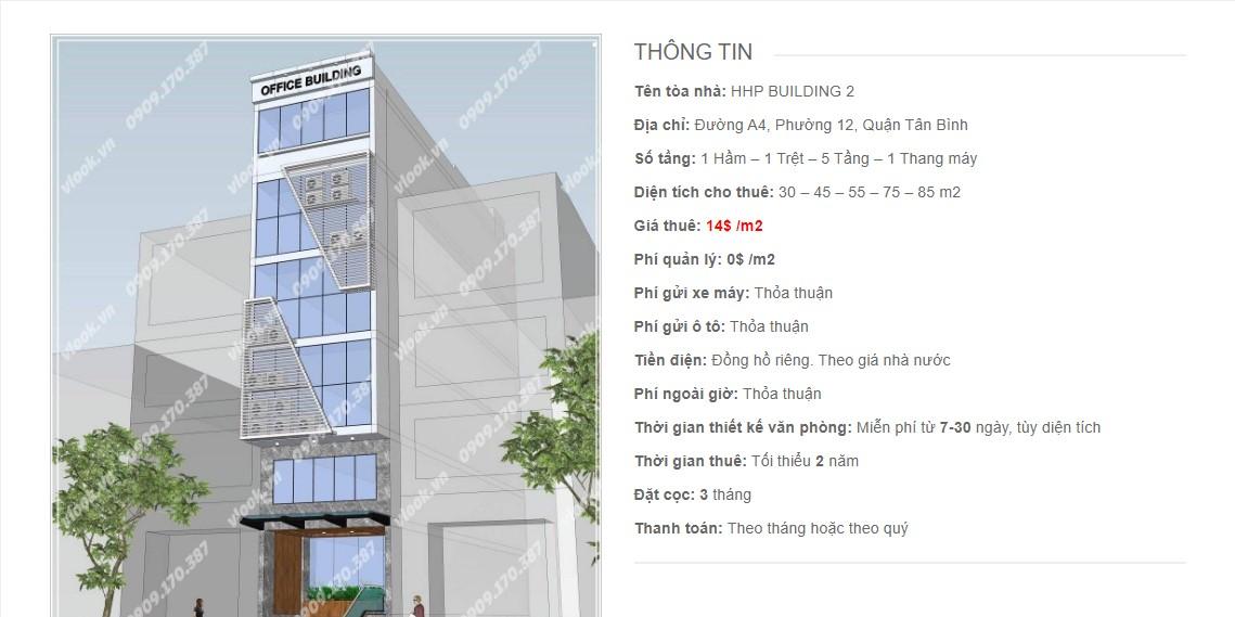 Danh sách các công ty đang thuê văn phòng HHP Building 2, Đường 4A, Quận Tân Bình vlook.vn