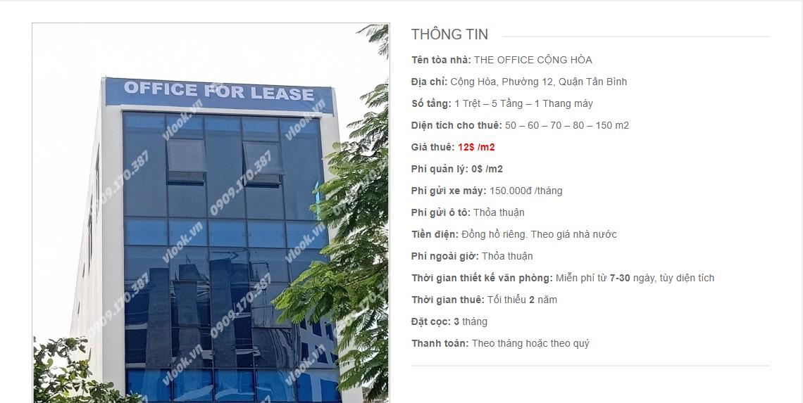 Danh sách các công ty đang thuê văn phòng The Office Cộng Hòa, Quận Tân Bình vlook.vn