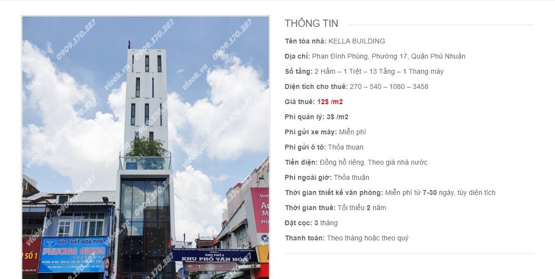 Danh sách các công ty đang thuê văn phòng Kella Building, Phan Đình Phùng Quận Phú Nhuận vlook.vn
