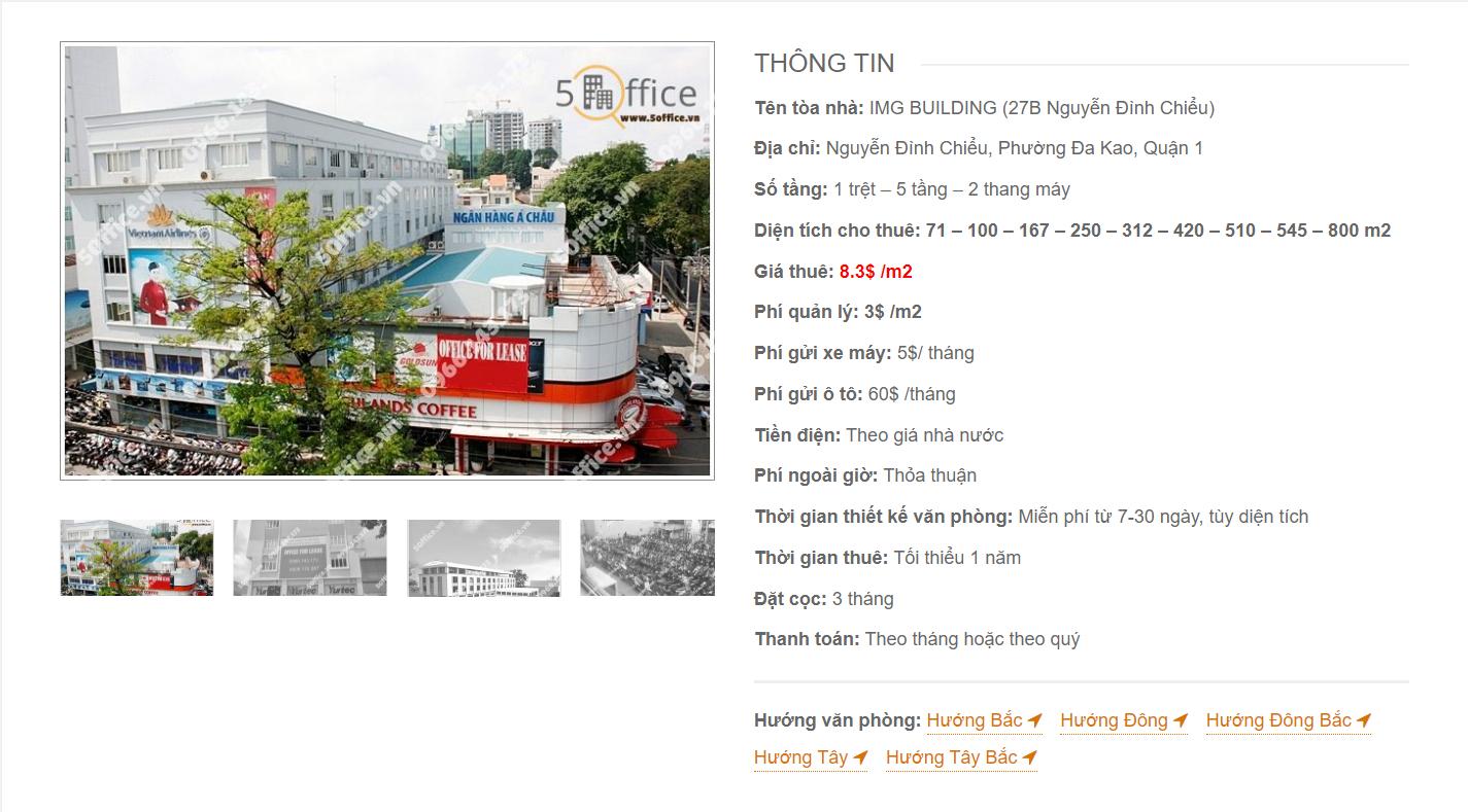 Danh sách công ty tại văn phòng IMG Building Nguyễn Đình Chiểu, Quận 1 - vlook.vn