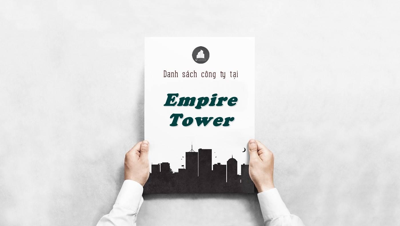 Danh sách công ty tại tòa nhà Empire Tower, Quận 1 - vlook.vn