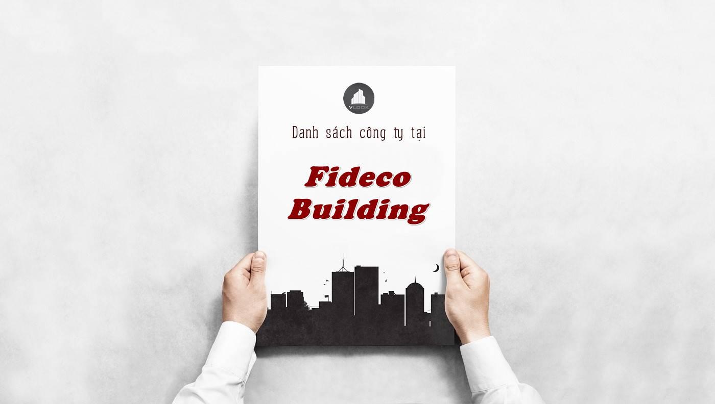 Danh sách công ty tại tòa nhà Fideco Building, Quận 1 - vlook.vn