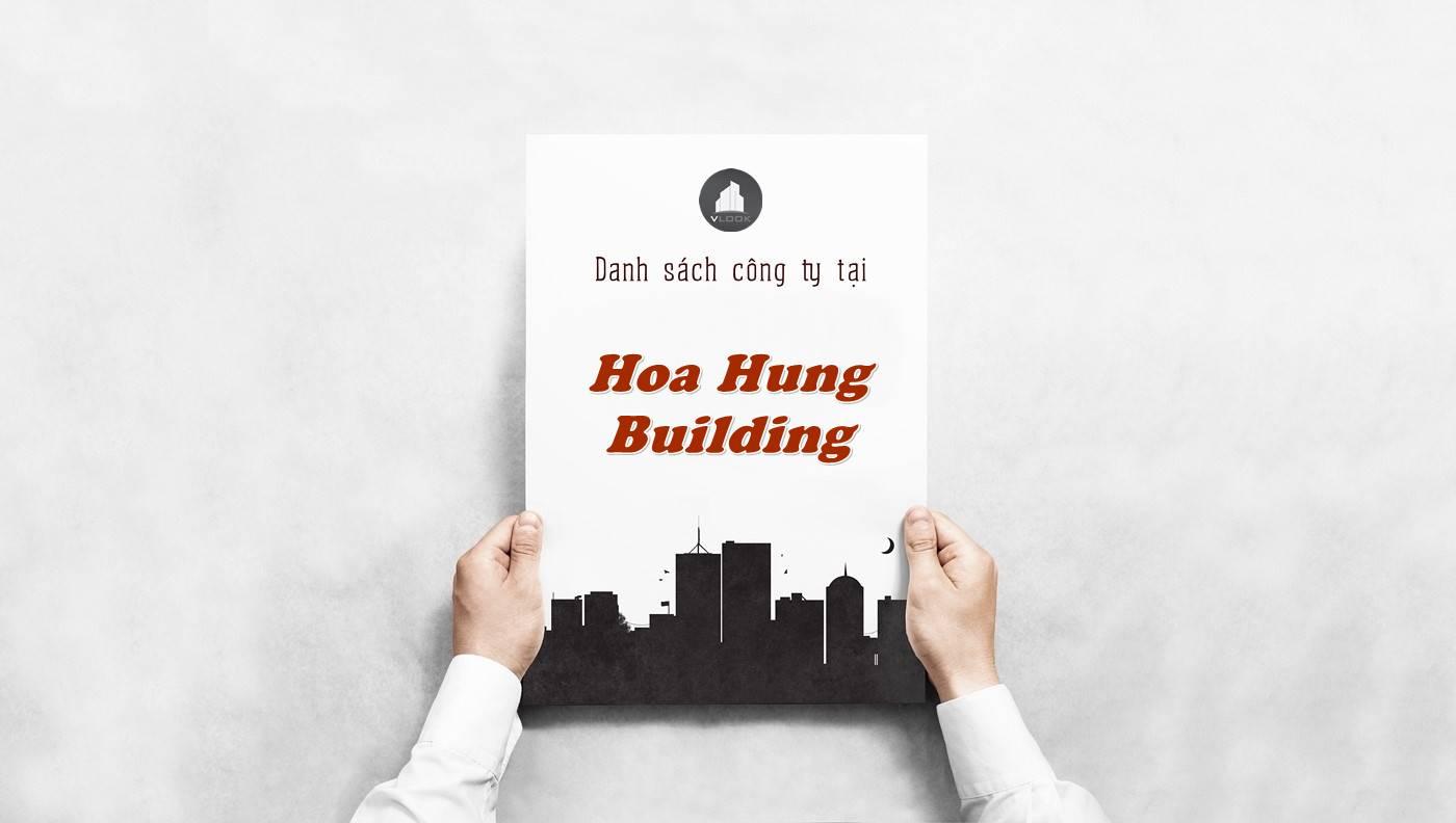 Danh sách công ty tại tòa nhà Hòa Hưng Building, Quận 10 - vlook.vn
