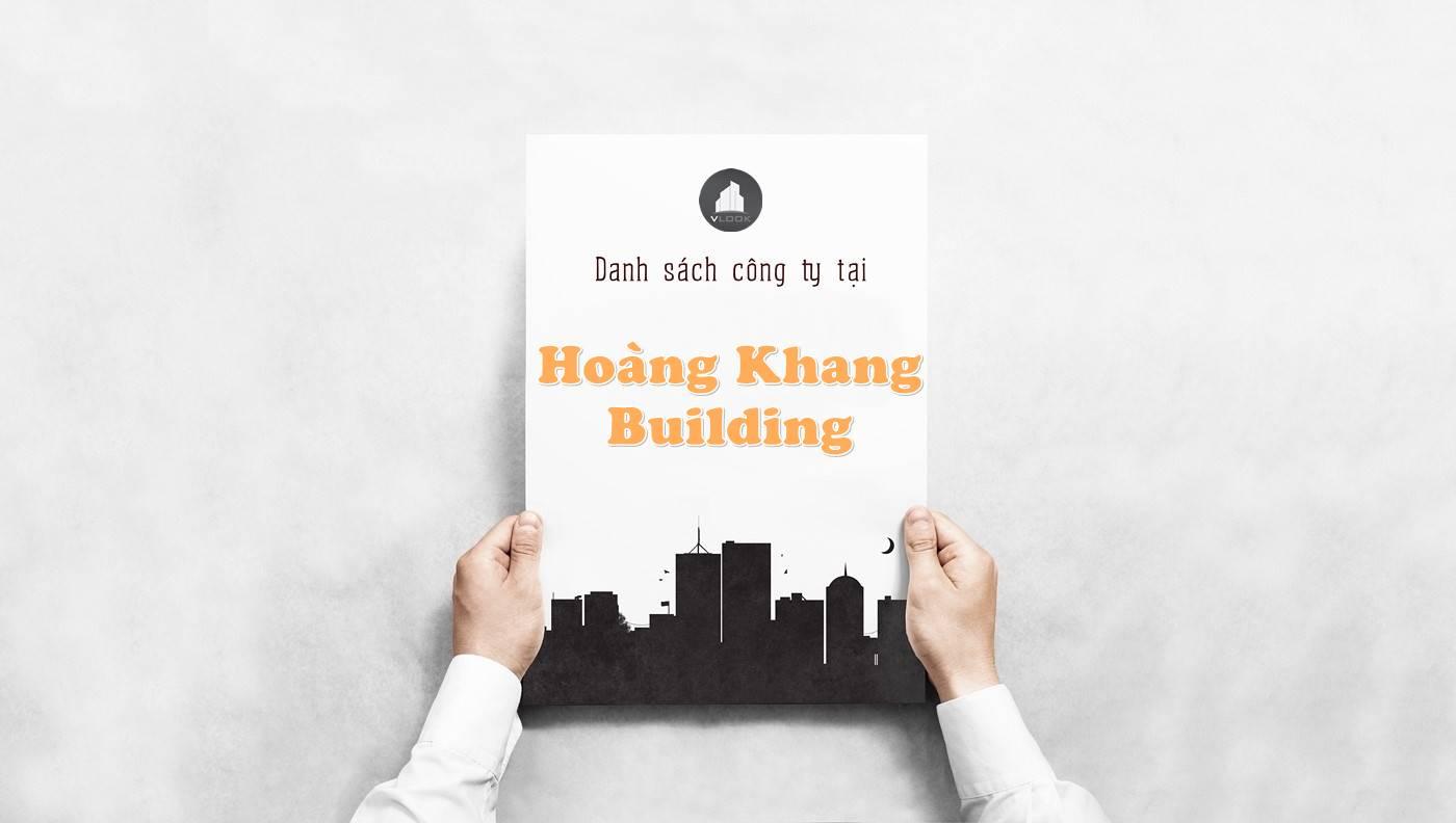 Danh sách công ty tại tòa nhà Hoàng Khang Building, An Dương Vương, Quận 1