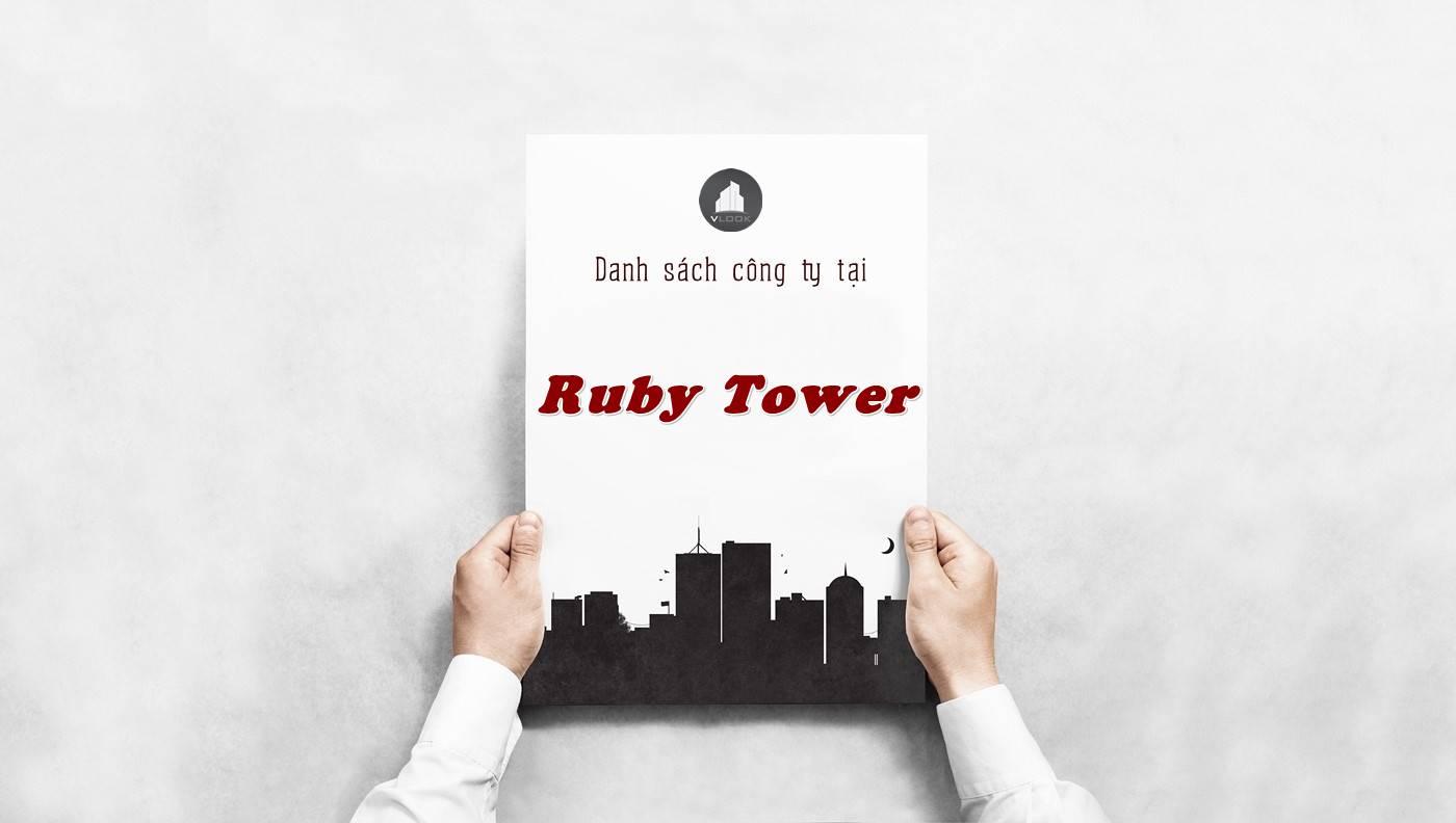 Danh sách công ty tại tòa nhà Ruby Tower, Quận 1 - vlook.vn