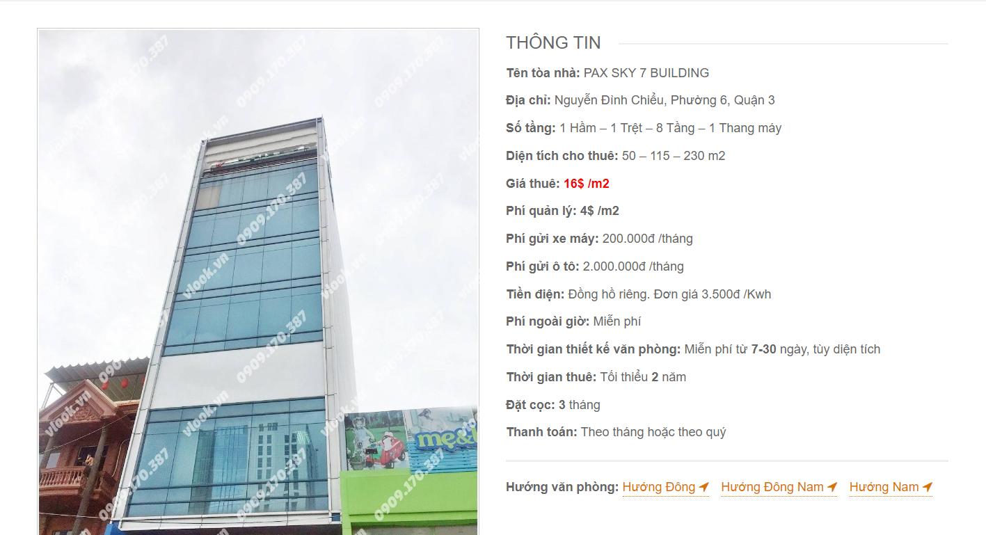 Danh sách công ty tại văn phòng Pax Sky 7 Building Nguyễn Đình Chiểu, Quận 3 - vlook.vn