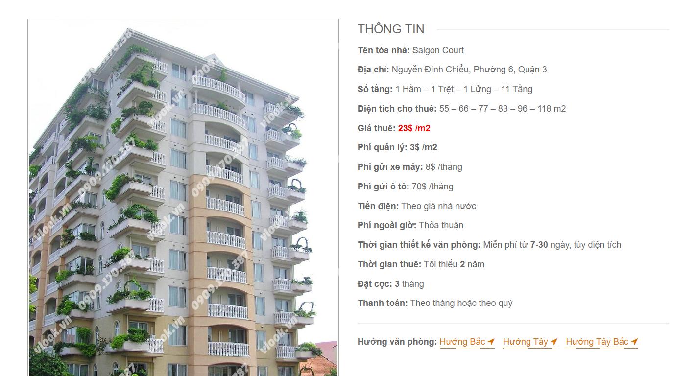 Danh sách công ty tại văn phòng Saigon Court Nguyễn Đình Chiểu, Quận 3 - vlook.vn