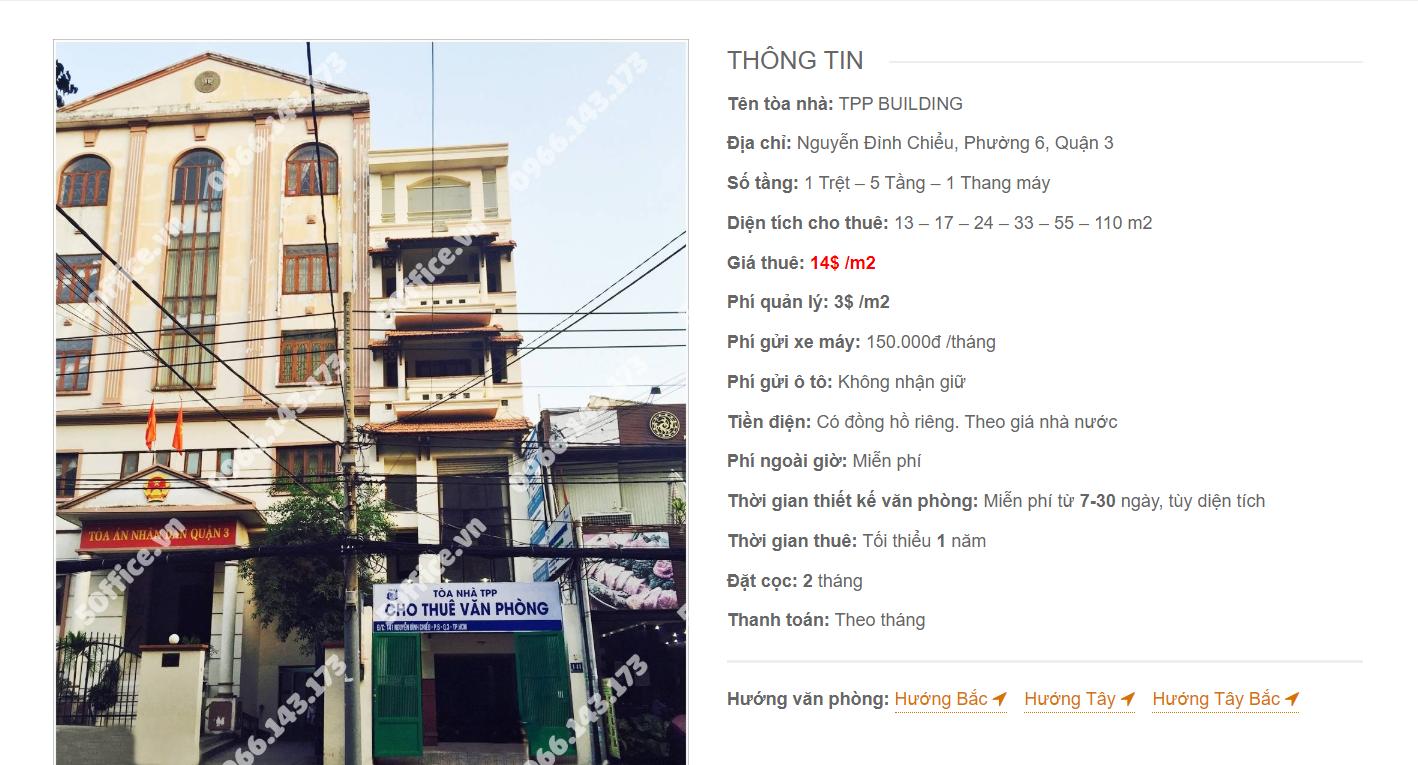 Danh sách công ty tại văn phòng TPP Building Nguyễn Đình Chiểu, Quận 3 - vlook.vn