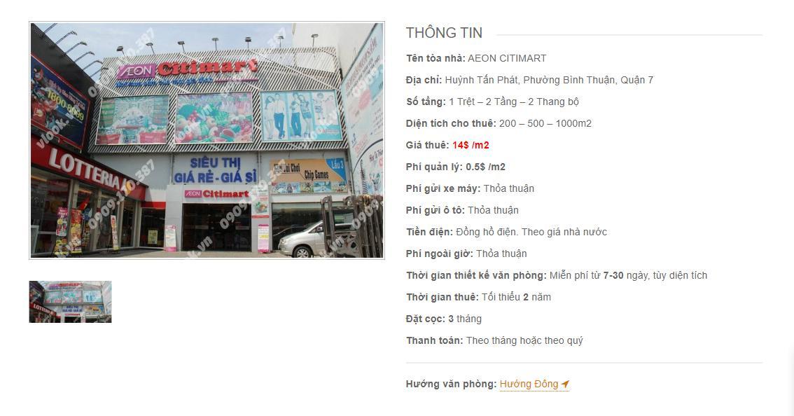 Danh sách công ty tại tòa nhà Aeon Citimart Huỳnh Tấn Phát, Quận 7 - vlook.vn