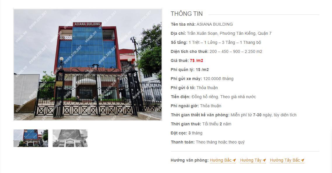 Danh sách công ty tại tòa nhà Asiana Building Trần Xuân Soạn, Quận 7 - vlook.vn