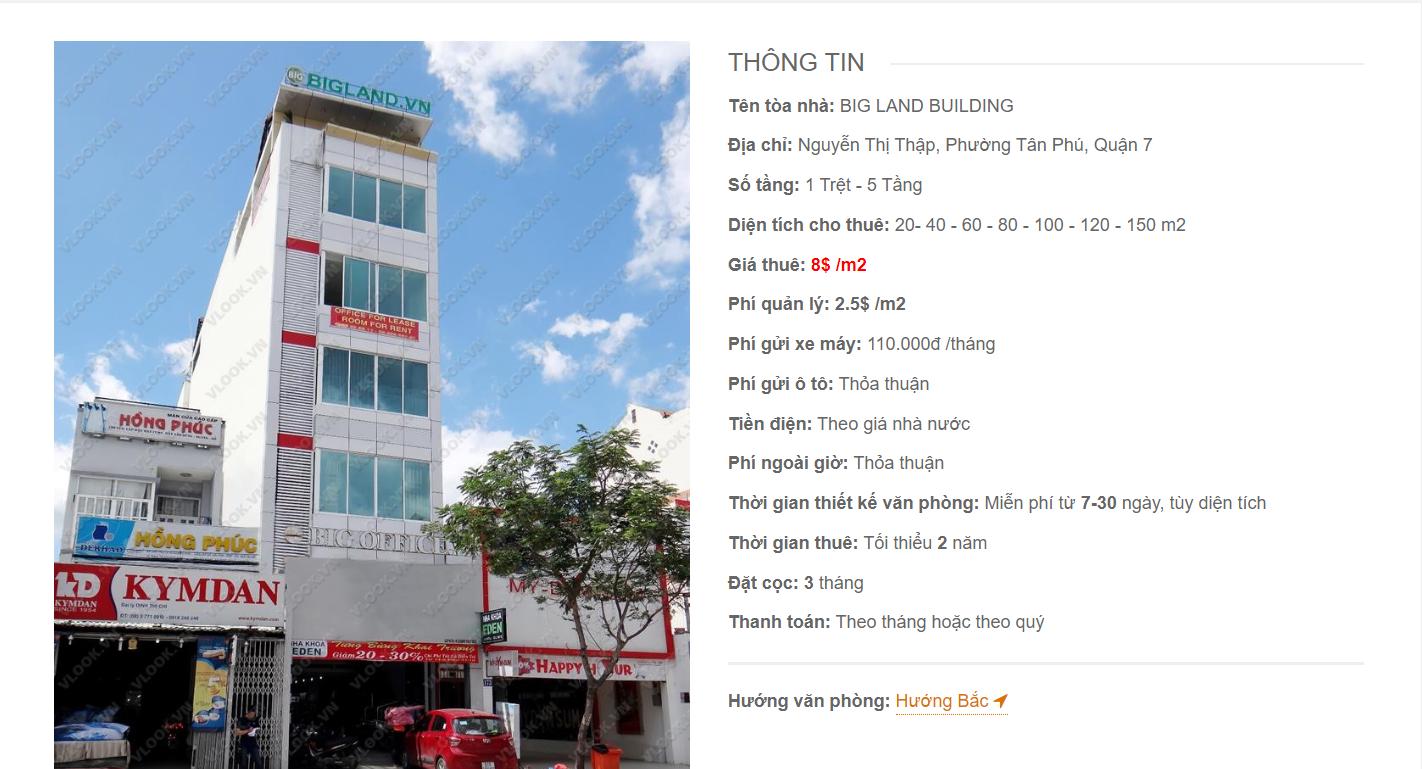 Danh sách công ty tại tòa nhà Big Land Nguyễn Lương Bằng, Quận 7 - vlook.vn