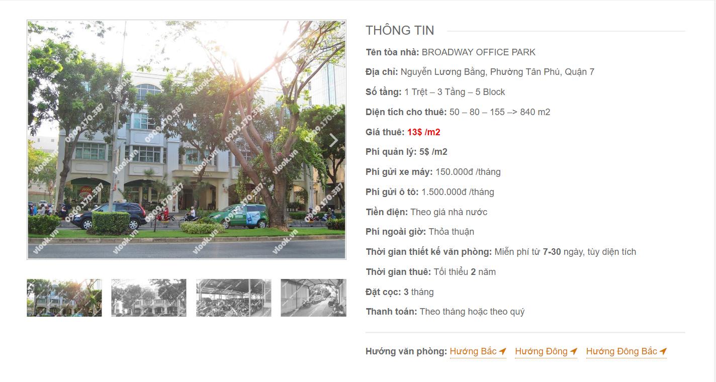 Danh sách công ty tại tòa nhà Broadway Office Park, Nguyễn Lương Bằng, Quận 7 - vlook.vn