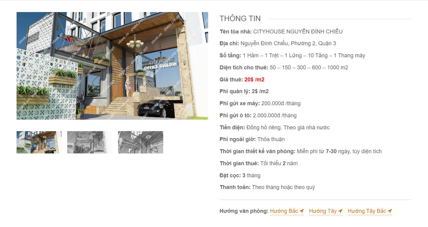 Danh sách công ty tại văn phòng Cityhouse Nguyễn Đình Chiểu, Quận 3 - vlook.vn