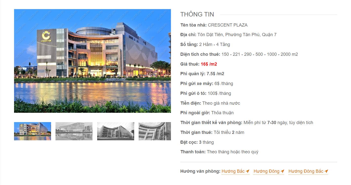 Danh sách công ty tại tòa nhà Cresent Plaza Tôn Dật Tiên, Quận 7 - vlook.vn