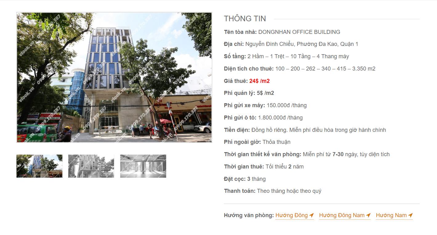 Danh sách công ty tại văn phòng Dongnhan Office Building Nguyễn Đình Chiểu, Quận 3 - vlook.vn